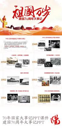 祖国万岁建国70周年大事记PPT课件模板