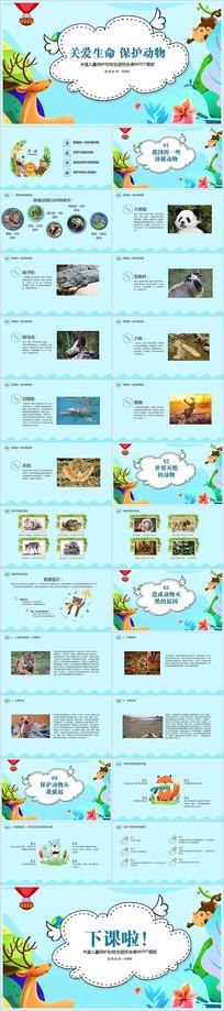 保护动物主题班会课件ppt