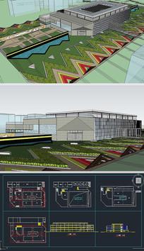 博物馆SU模型含CAD图
