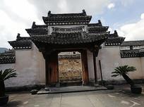 传统中式大宅门头建筑景观
