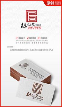古典中国风图案logo设计商标标志
