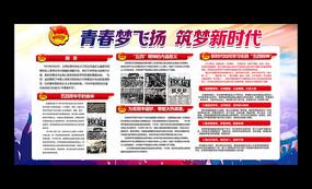 弘扬五四精神五四青年节宣传栏
