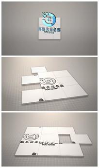 简洁图片拼贴logo视频模板