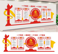 基层党建文化墙宣传展板设计