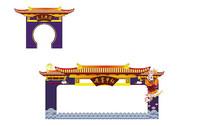 节日庆典古装背景板