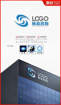 科技循环logo设计商标标志设计
