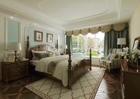 美式风格  卧室