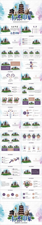 南京印象南京旅游宣传城市介绍旅游PPT