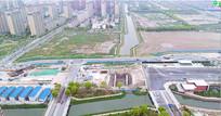 上海郊区城市发展建设道路交通视频素材