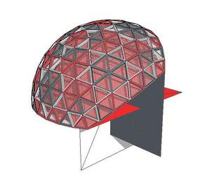 特色红色穹顶现代建筑