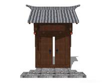 瓦片中式院门