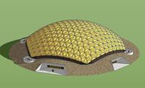 现代贴地穹顶建筑