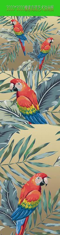 装饰艺术画 艺术类花鸟图案画
