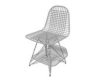 北欧风格金属格子的靠背椅SU模型