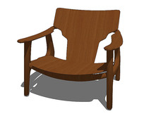 北欧风格造型精巧的扶手椅SU模型