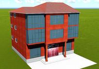 别墅建筑效果模型图