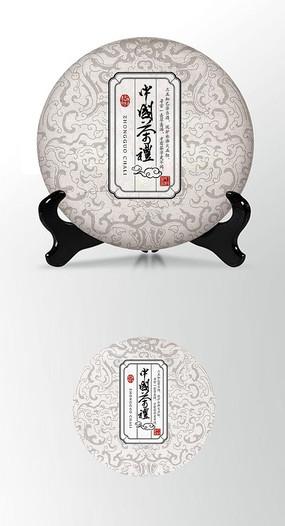 茶饼棉纸包装设计