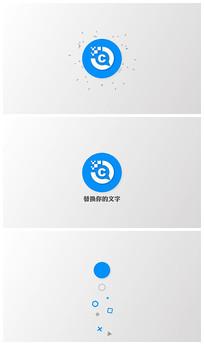 简洁logo标志片头ae模板