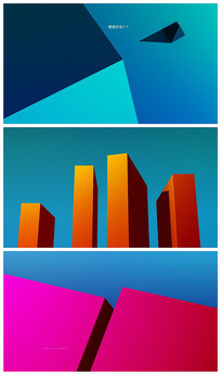 简洁商业图形文字动画展示AE模板