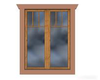简约中式木窗su模型