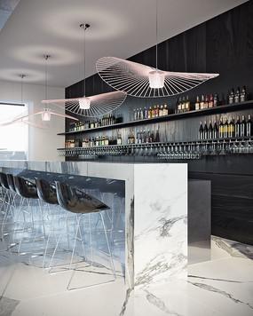 酒吧的吧台