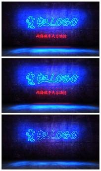 蓝色霓虹灯文字效果AE视频模板