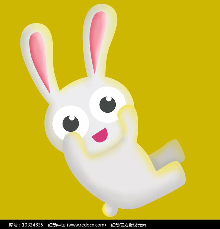 原创元素手绘小兔子玩偶图片