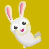 原创元素手绘小兔子玩偶