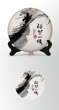 中国龙茶叶包装茶饼棉纸包装设计