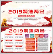 2019聚焦两会党建展板