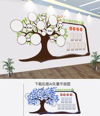 爱心树形员工风采企业文化墙