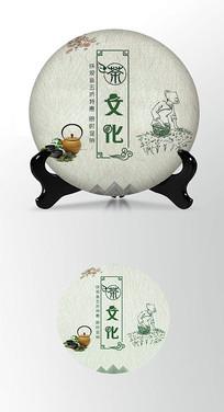 茶文化茶叶棉纸茶饼包装设计
