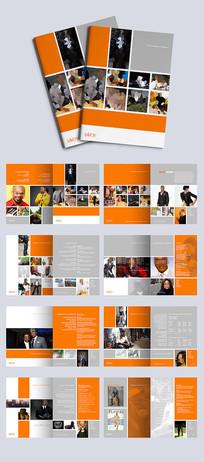 橙色背景教育行业招生画册设计