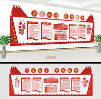 党员活动室会议室文化墙