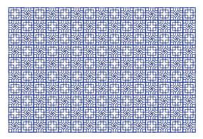 蓝色经典传统背景花纹矢量