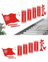 楼梯安全生产文化墙