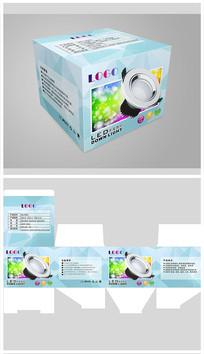 时尚LED筒灯包装设计 CDR