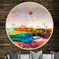 北欧风景艺术壁画