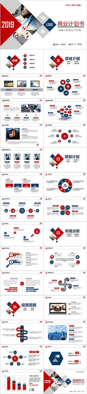 创意创业融资计划书商业计划书PPT模板