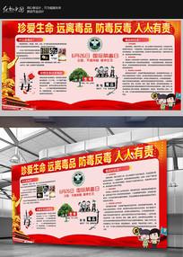 大气学校社区禁毒宣传展板