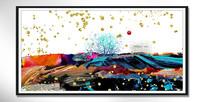 大堂新中式水晶装饰画