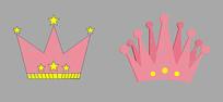 粉色卡通皇冠