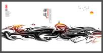 古风禅道宣传海报设计