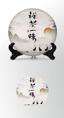 古韵茶香茶叶棉纸茶饼包装设计