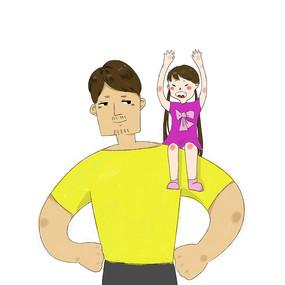 卡通创意手绘父亲节元素