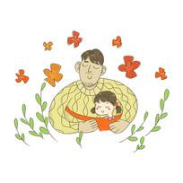 卡通原创手绘父亲节元素
