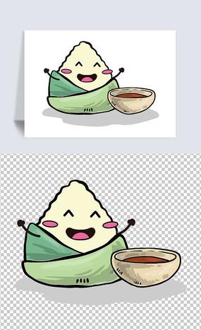 矢量卡通粽子