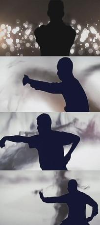 水墨中国风武术魂背景视频素材