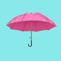 原创夏日卡通雨伞元素
