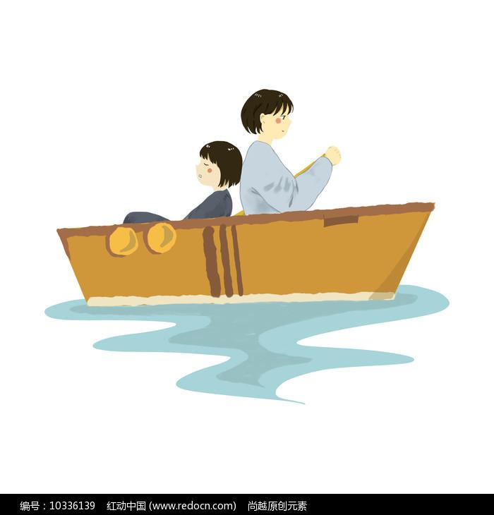原创手绘船上旅游元素图片
